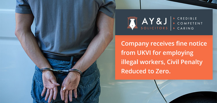 Company receives fine notice from UKVI for employing illegal workers 1