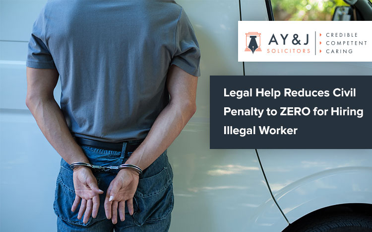 Civil Penalty for Illegal Worker