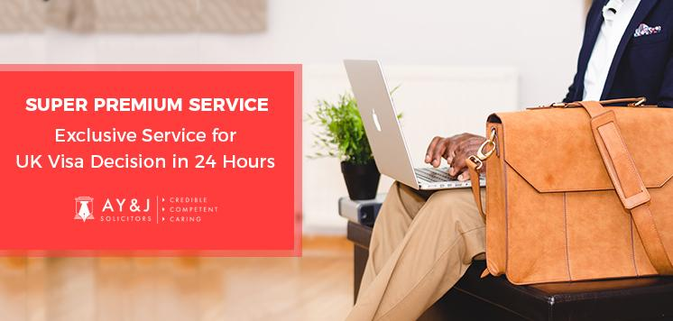 SUPER PREMIUM SERVICE – Exclusive Service for UK Visa Decision Quick usually in 24 Hours