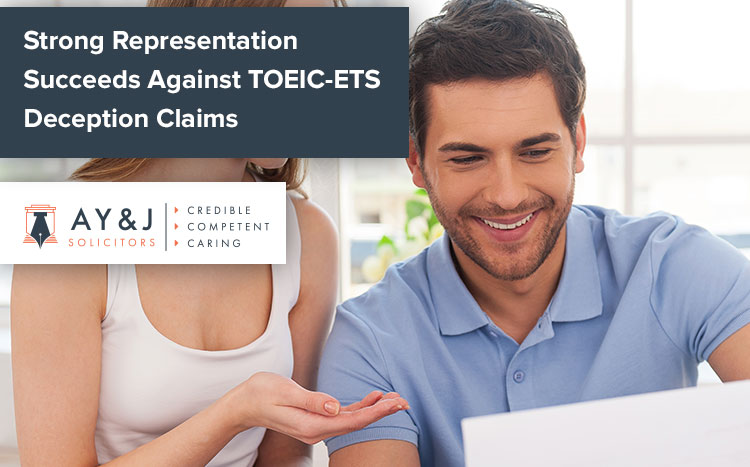 Success TOEIC ETS Deception Claims