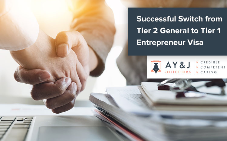 Successful Switch from Tier 2 General to Tier 1 Entrepreneur Visa