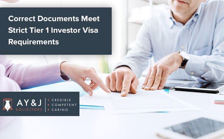 Correct Documentation Meet Strict Tier 1 Investor Visa Requirements