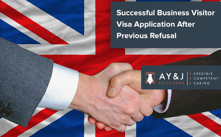 Approval Of A Business Visitor Visa Application After Previous Refusal