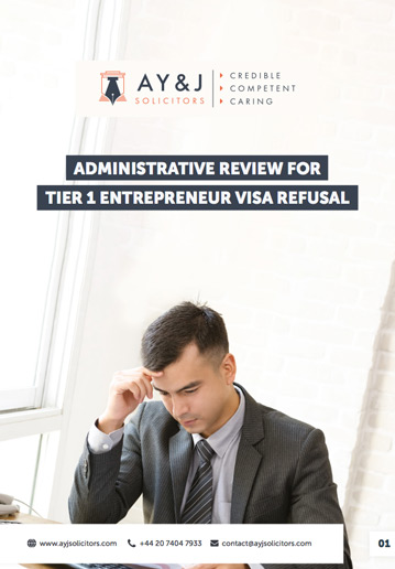 AR for Tier 1 (Entrepreneur) Visa Refusal