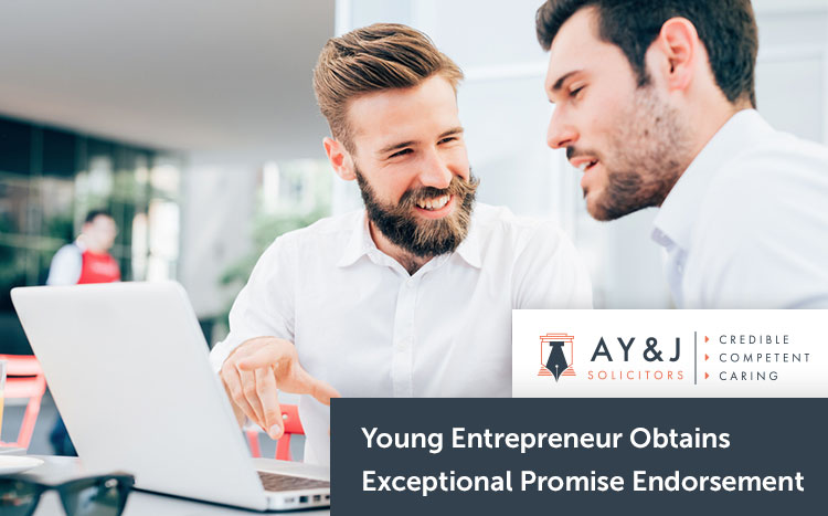 Young Entrepreneur Obtains Exceptional Promise Endorsement