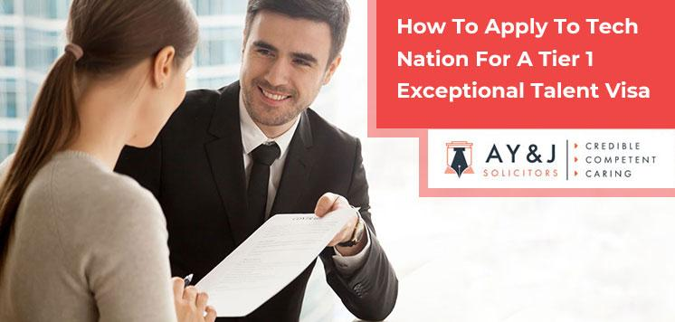 How To Apply To Tech Nation For A Tier 1 Exceptional Talent Visa