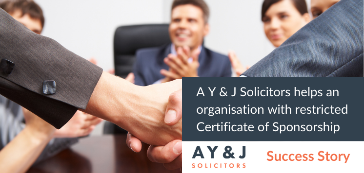 Unrestricted Certificate of Sponsorship