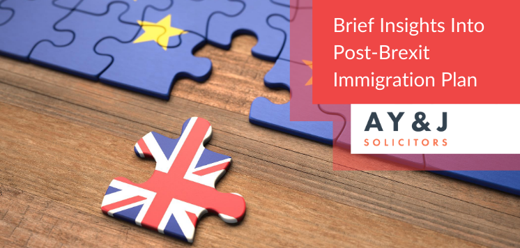 Brief insights on post-Brexit immigration Plan
