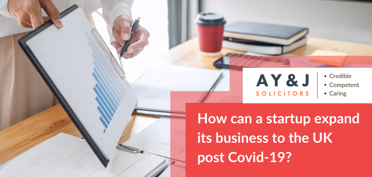 How can a startup expand its business to the UK post-COVID-19?
