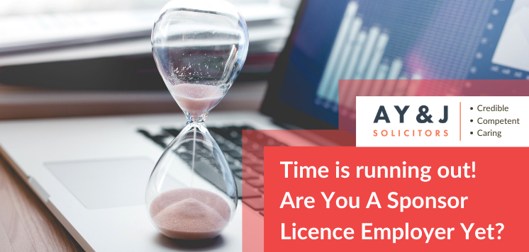 Time is running out! Are You A Sponsor Licence Employer Yet?