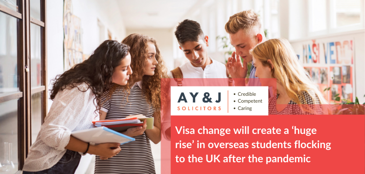 Visa change will create 'huge rise' in overseas students flocking to the UK after the pandemic