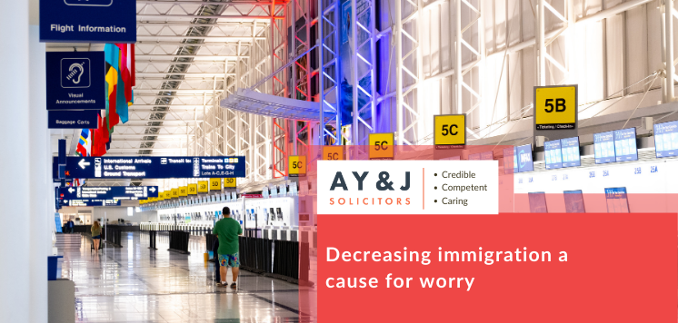 Decreasing immigration a cause for worry