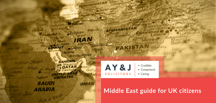 Middle East guide for UK citizens