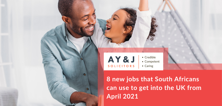 8 new jobs that South African citizens can use to get into the UK from April 2021