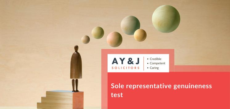 Sole Representative Genuineness Test