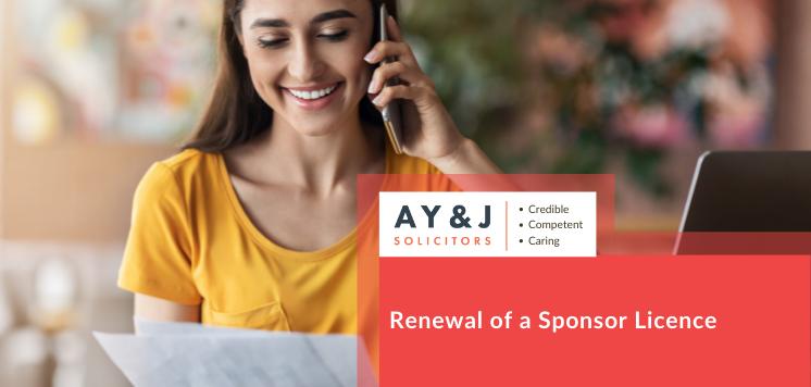 Renewal of a Sponsor Licence