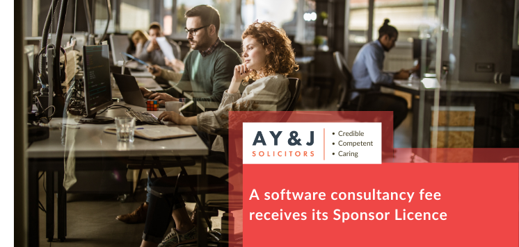 A software consultancy fee receives its Sponsor Licence