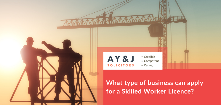 What type of business can apply for a Skilled Worker Licence?