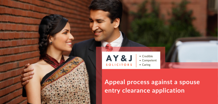 spouse entry clearance application