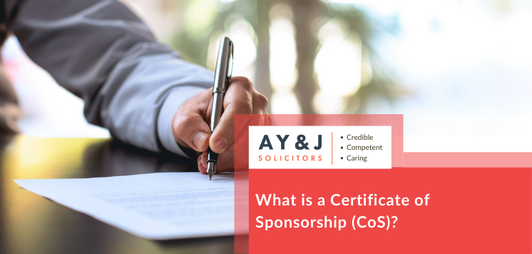 What is a Certificate of Sponsorship (CoS)?